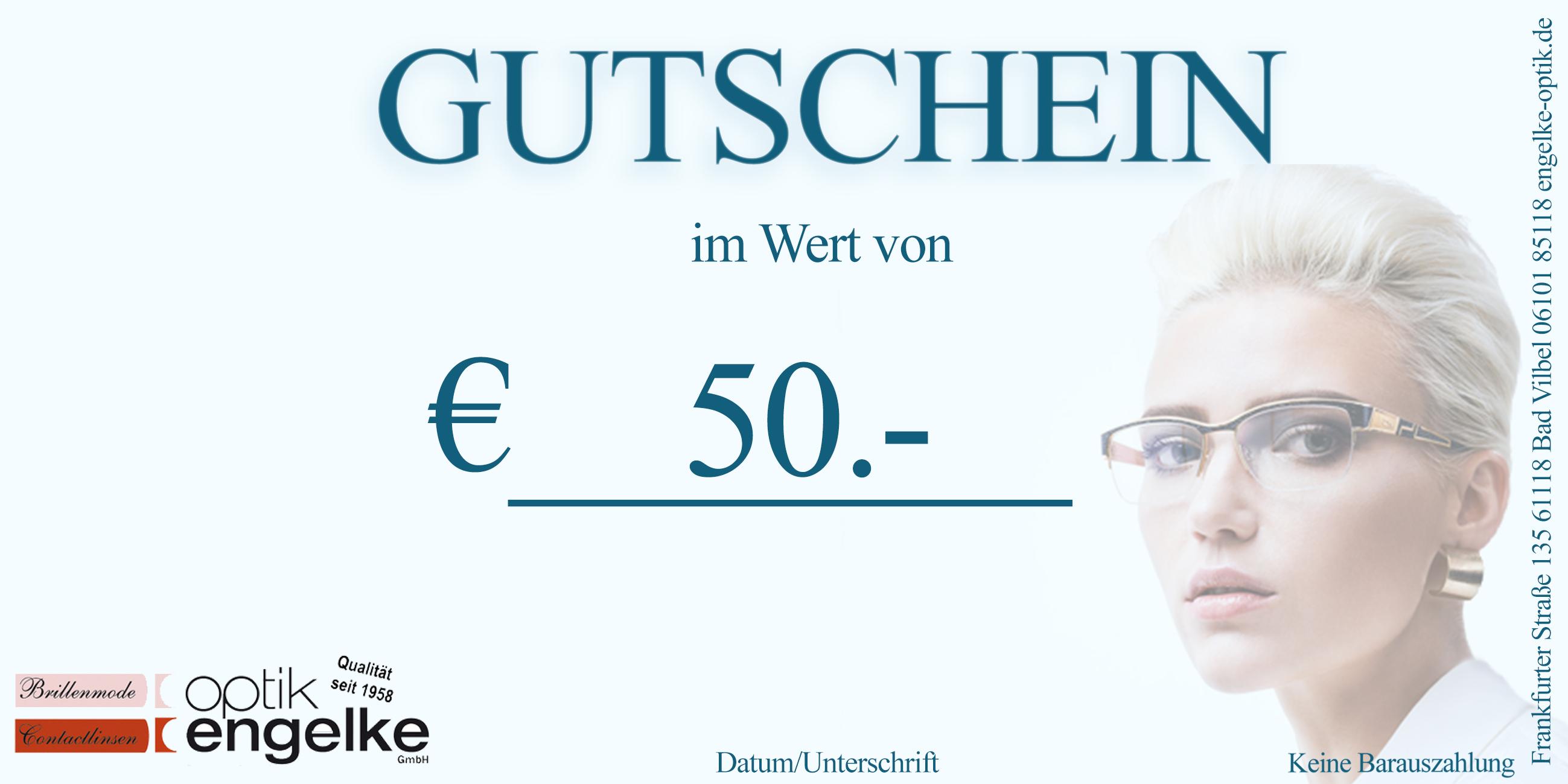 € 50.- Euro Gutschein