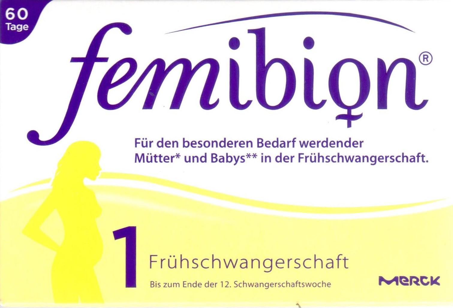 Femibion 1 Frühschwangerschaft Tab 56 St. 15199970 Schwanger