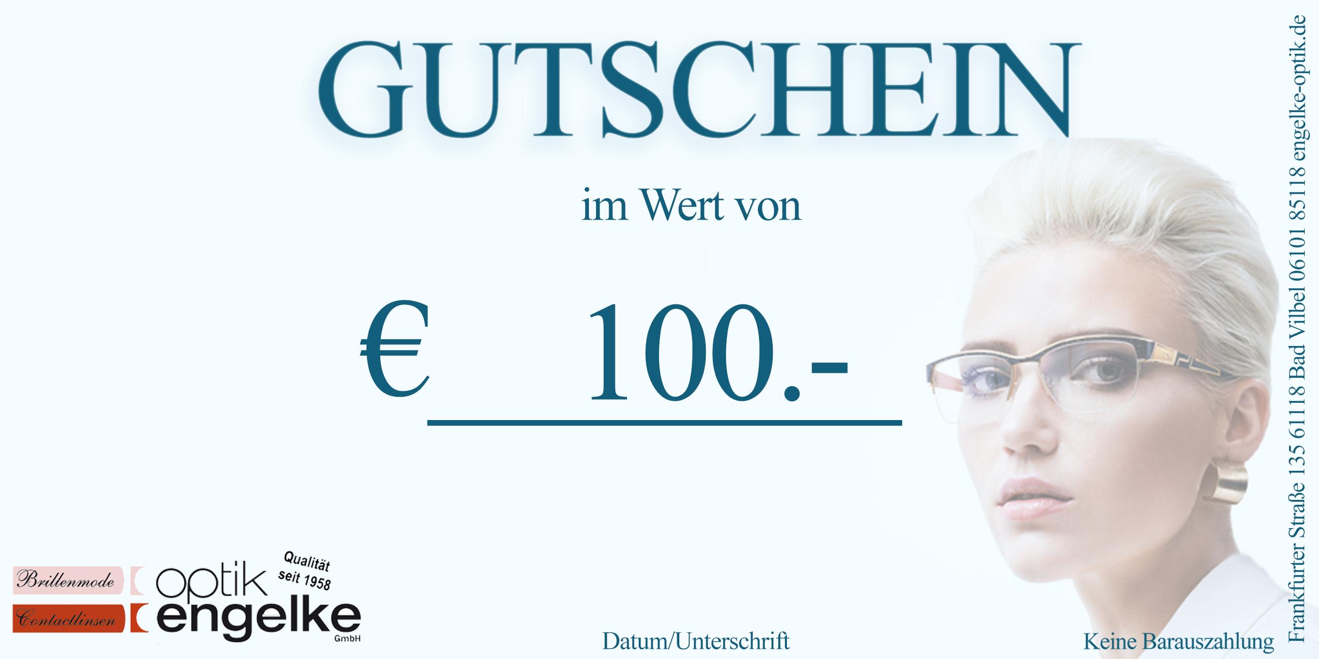 € 100.- Gutschein