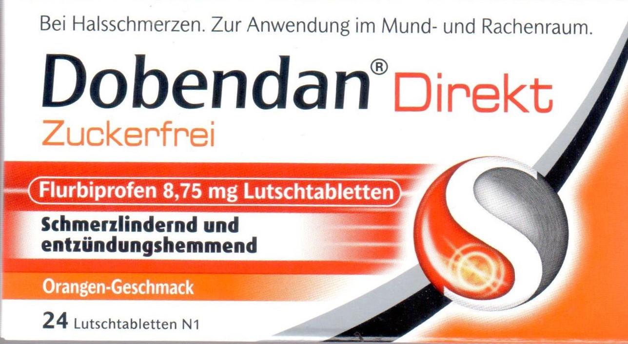 Dobendan Direkt ZF Flurbiprofen 24 St PZN 10326895 Hals