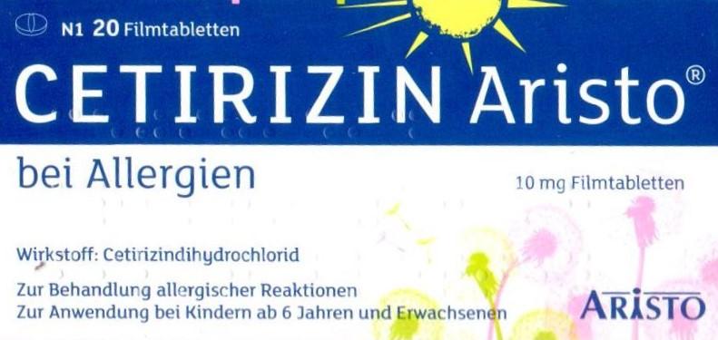 Cetirizin Aristo 20 St  PZN 09703269 Allergie Antihistamin