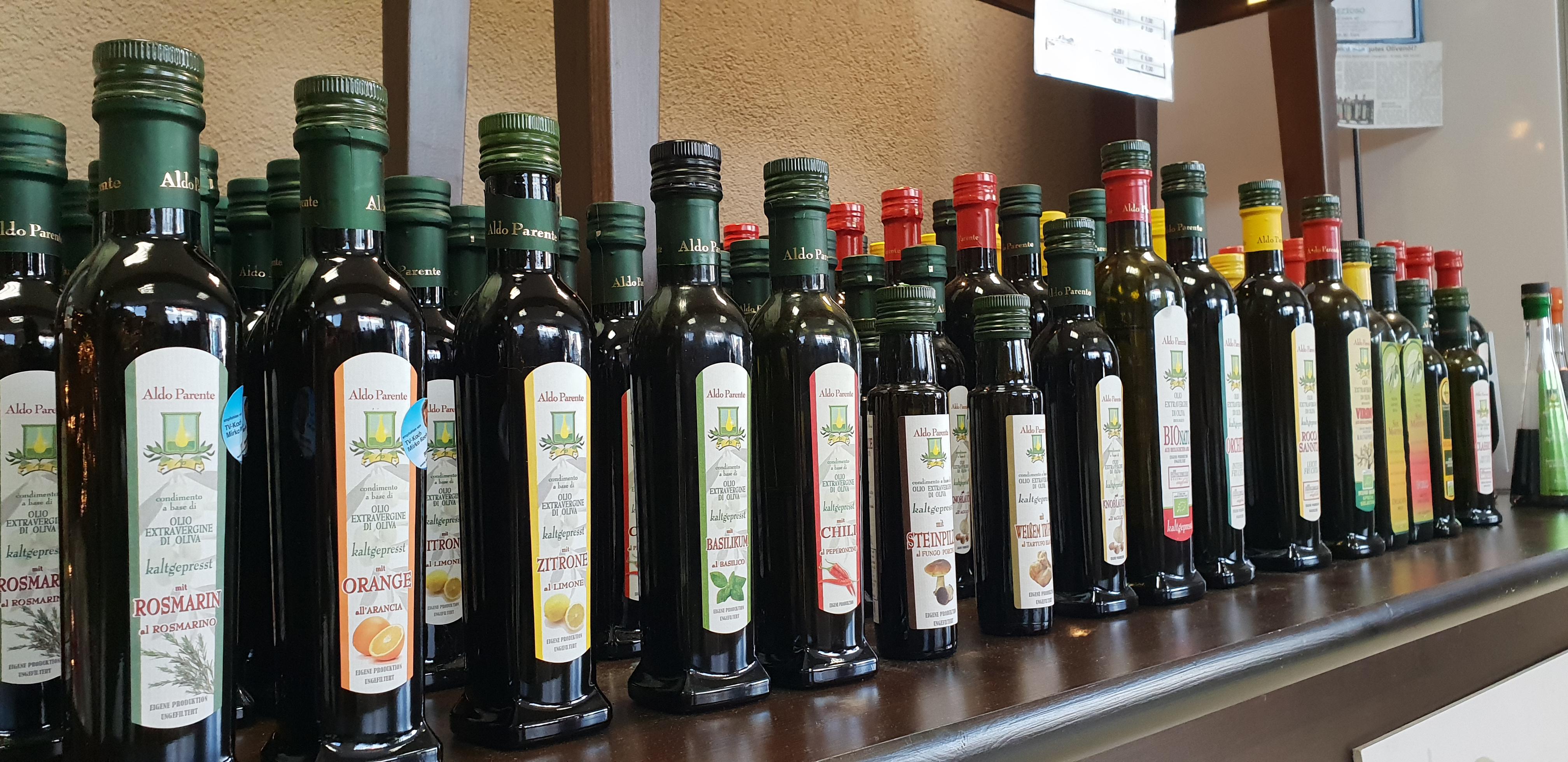 Natives extravergine Olivenöl und Balsamico (Aldo Parente)