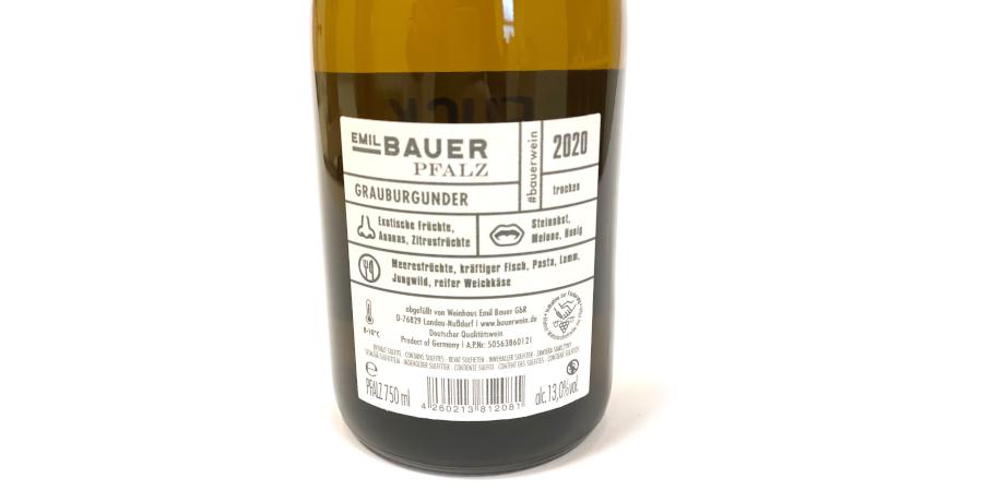 """""""Fuck The Virus"""" Grauburgunder Wein"""