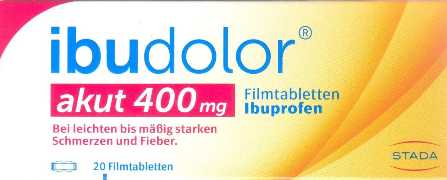 Ibudolor 400mg 20 St. PZN 09091257 Schmerzen, Fieber, Erkältung