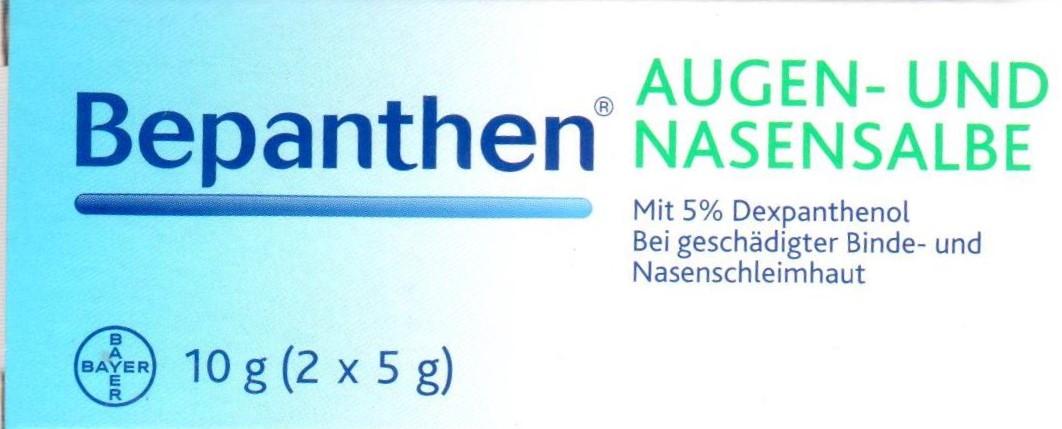 Bepanthen Augen und Nasensalbe 10g (2x5g) PZN:01578675 Nase