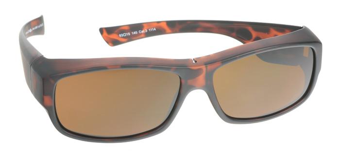 Sunfit Überzieh Sonnenbrille 40001 braun