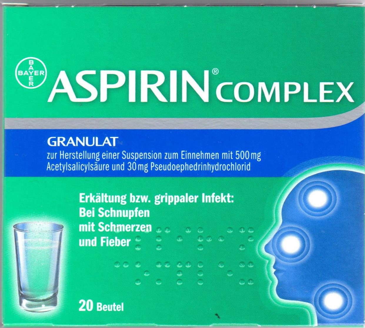Aspirin complex Beutel 20 St PZN 04114918 Erkältung