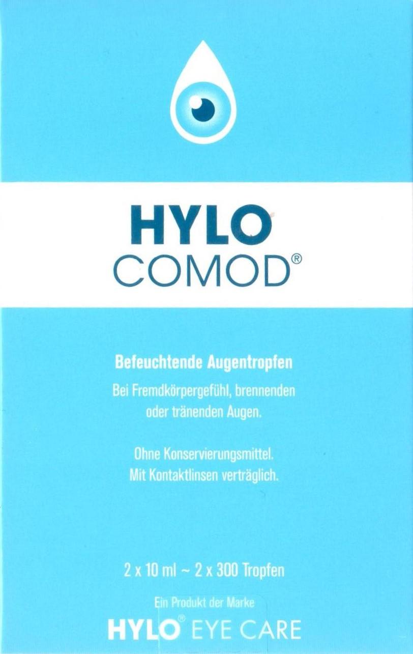 Hylocomod Augentropfen 2x10ml PZN 04047553 Auge, Befeuchtung