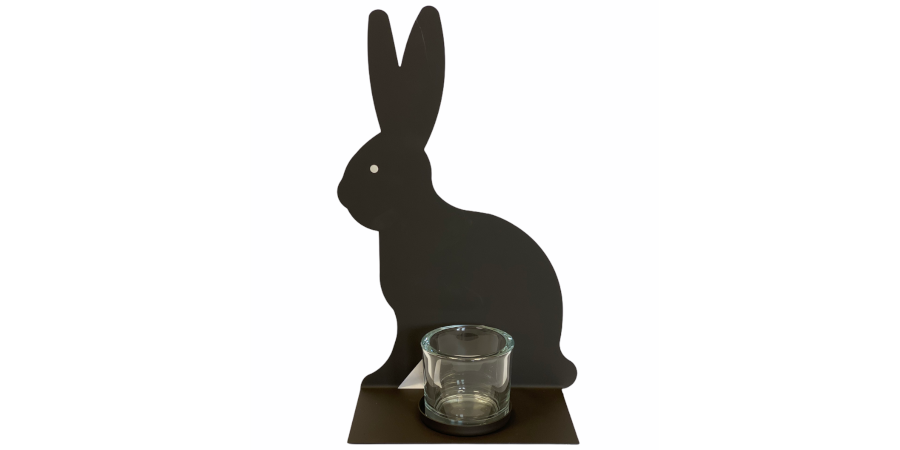 Deko Hase mit Teelichthalter